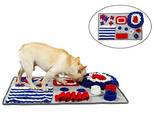 Xiaoyu Pet Dog Snuffle Mat, Dog Training Feeding Mat, Encourages Natural Foraging Skills