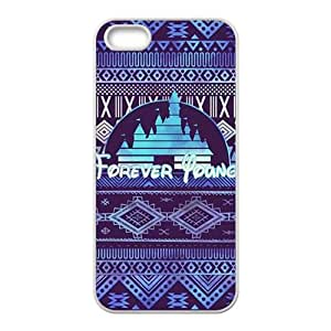 Forever young purple pattern Cell Phone Case for Iphone 5s