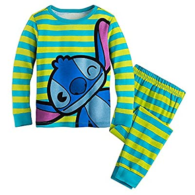 Disney PJ Pals Girls' Lilo and Stitch Pajamas Long Sleeve and Pants Snug Fit Set