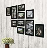 Painting Mantra Photo Frame Set (Black, Set of 10)