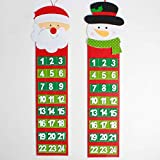 Christmas Calendar Santa Claus Snowmen Hanging Christmas Calendar Door Wall Window Christmas Decor Xmas Gift Party Supply - Santa Claus