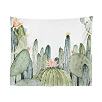 D C.Supernice Cactus Tapestry Cactus Floral Flowers Series Wall Art Tapestry Wall Hangings Backdrop for Bedroom Home Room Decor Gifts