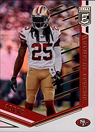 wholesale dealer 9add9 b2799 Amazon.com: 2018 Donruss Elite #26 Richard Sherman 49ers ...