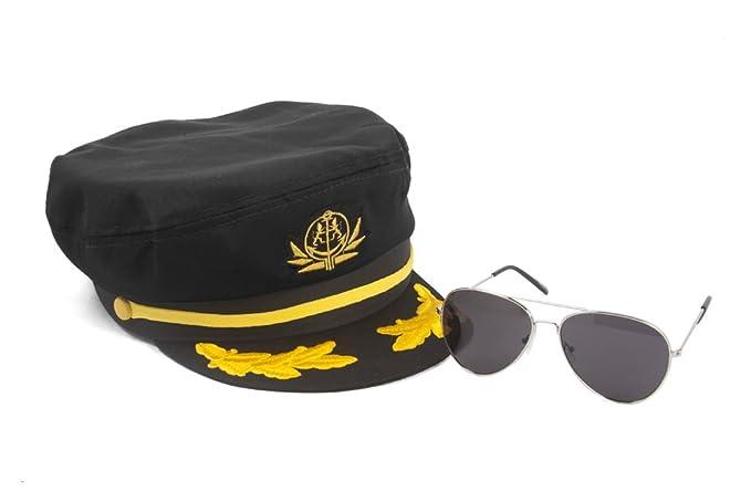 Amazon com: Captain Hats Sea Captain's Kit Aviator