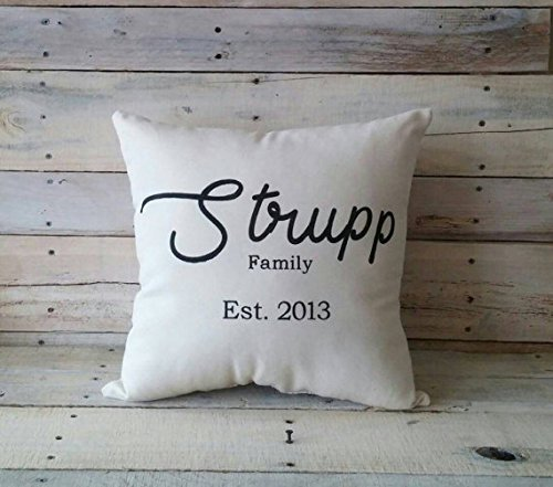 Personalized Family Pillowcase, Housewarming Gift, Wedding Gift, Engagement Gift, Throw Pillowcase, Decorative Pillow Cover, Home Décor, Christmas gift