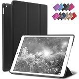 iPad Mini 4 Case, ROARTZ Black Slim Fit Smart Rubber Coated Folio Case Hard Cover Light-Weight Auto Wake/Sleep For Apple iPad Mini 4th Generation Model A1538/A1550 Retina Display