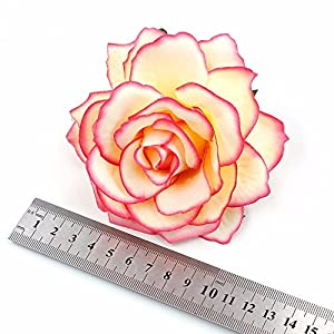 8pcs/lot 10cm Big Silk Blooming Roses Artificial Flower Head for Wedding Decoration DIY Wreath Gift Scrapbooking Craft Flower 4