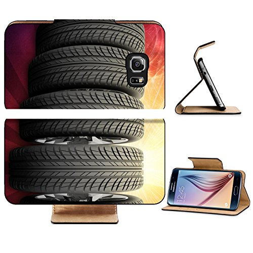 Luxlady Premium Samsung Galaxy S6 Edge Flip Pu Leather Wallet Case IMAGE 38081684 Wedge of new car wheels Abstract red background is galaxy stripes at - A Ray Of Is Part A Line
