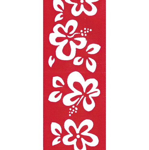 Offray Hibiscus Floral Craft Ribbon, 1-1/2-Inch Wide by 10-Yard Spool, (Hibiscus Ribbon)