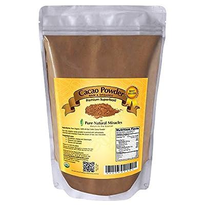 Pure Natural Miracles Cacao Powder Raw and Organic