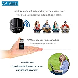OJA Bluetooth 4.0 USB Dongle Adapter,Long Range Wireless Wifi Card for PC,Laptop,Desktop with Windows 10 / 8.1 / 8 / 7 / XP (W87)