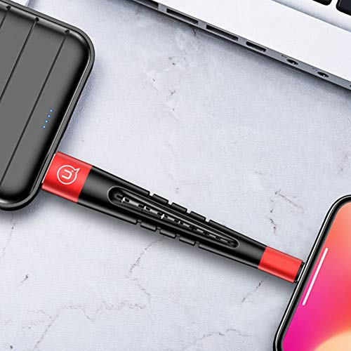Gaweb 3 in 1 12cm 2A Charging Cable for iPhone Data Sync Cord Stylus Pen Phone Holder for iPhone Xs/Max/XR/X/8/8Plus/7/7Plus/6S/6S Plus/SE/iPad and More Red by Gaweb (Image #4)