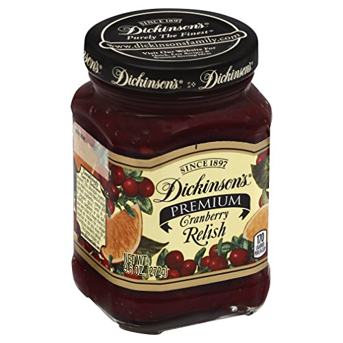 Orange Relish - DICKINSON RELISH CRANBERRY COUNTRY 9.6OZ