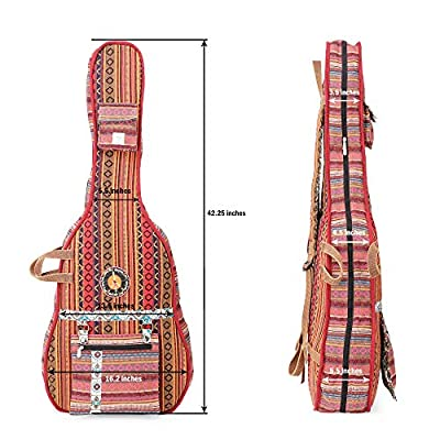 The House Of Tara Handloom Fabric Guitar Case (Multicolor 8) 3