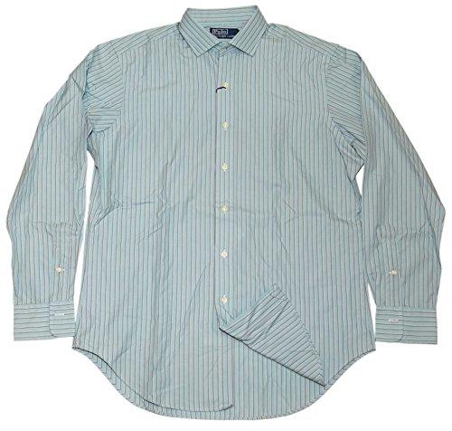 Polo Ralph Lauren Mens Classic Dress Shirt Mint Moss Green Brown Stripe - Green Mint Ralph Lauren Polo