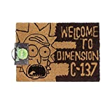 Rick And Morty Welcome To Dimension C-137 Door Mat (One Size) (Black)