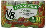 V8 100% Vegetable Juice, Low Sodium, 5.5 Ounce (Pack of 24)
