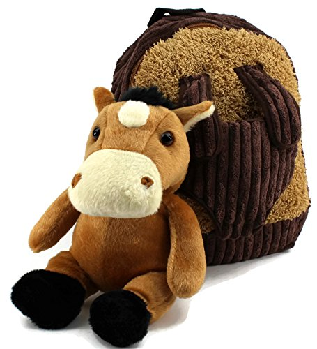 5f76ad271d45 Dear Baby Gear Toddler Backpack and Animal Collection Backpack with Brown  Horse