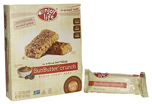 Enjoy Life Sunbutter Crunch Baked Chewy Bars, 5 oz by Enjoy Life Foods (Bars Sunbutter Crunch)