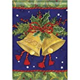 Christmas Bells House Flag by BreezeArt