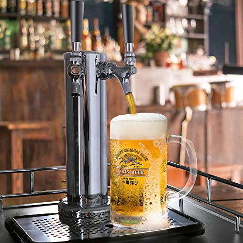 KUPPET Full Size Kegerator& Draft Beer Dispenser, Beer Kegerator, Keg Beer Cooler for Party, Compressor Cooling CO2 Regulator Casters, Dual Tap, Black, 6.0 Cu.ft. by KUPPET (Image #4)