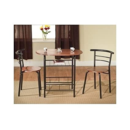 Amazon.com - Bistro Table Set Indoor for 2 Kitchen Small - Table ...