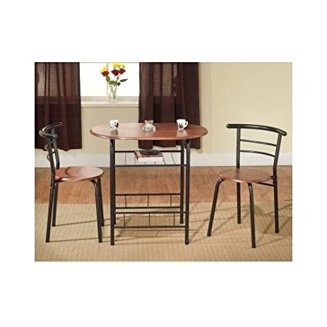 Amazon.com: Bistro Table Set Indoor for 2 Kitchen Small: Kitchen ...