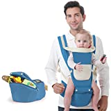 Baby carrier,Adjustable Baby carrier for infants and toddlers Front-hold Waist stool Sit down Full seasons Baby carrier original-F