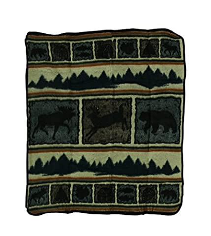 Wilderness Wonders Plush Fleece Throw Blanket 50 X 60 (Deer Coperta Del Tiro)