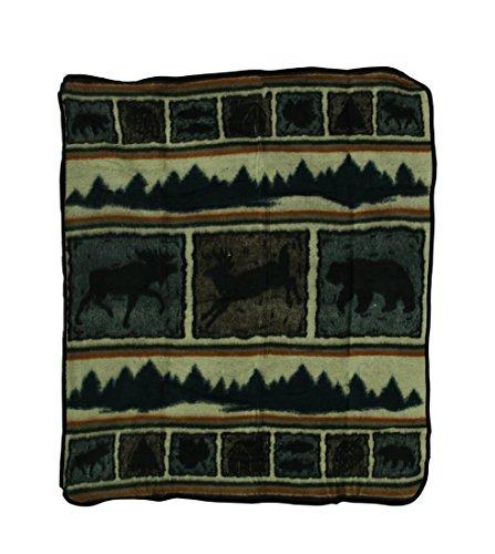 Zeckos Wilderness Wonders Plush Fleece Throw Blanket 50 X 60 in.