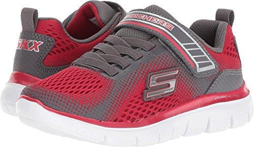 Skechers Kids Boys' Flex Advantage 2.0-GEO Blast Sneaker, red/Charcoal, 13 Medium US Little ()