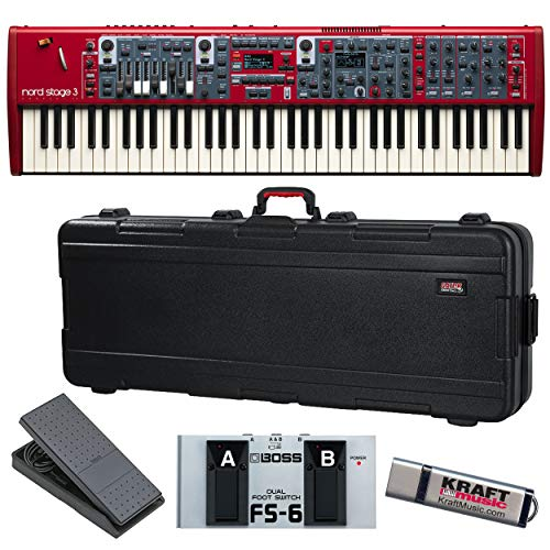 Nord Stage 3 Compact with Gator TSA Case, Expression Pedal, Dual Footswitch, and Flash Drive