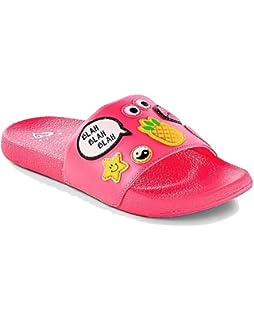 573dfc80f81a Justice Slide Sandals Pink Patch