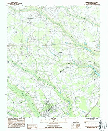 Timmonsville SC topo map, 1:24000 scale, 7.5 X 7.5 Minute, Historical, 1986, updated 1987, 26.8 x 22 IN - - Island Long Acres Green