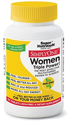 SuperNutrition Simply One Women's Iron-Free Multivitamin Tablet, 30 Count by SuperNutrition