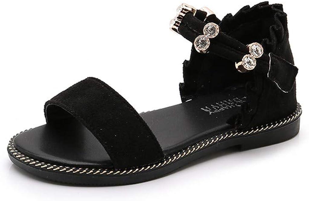 Kimanli Children Kids Girls Roma Cross Tie Floral Sandals Beach Princess Casual Shoes