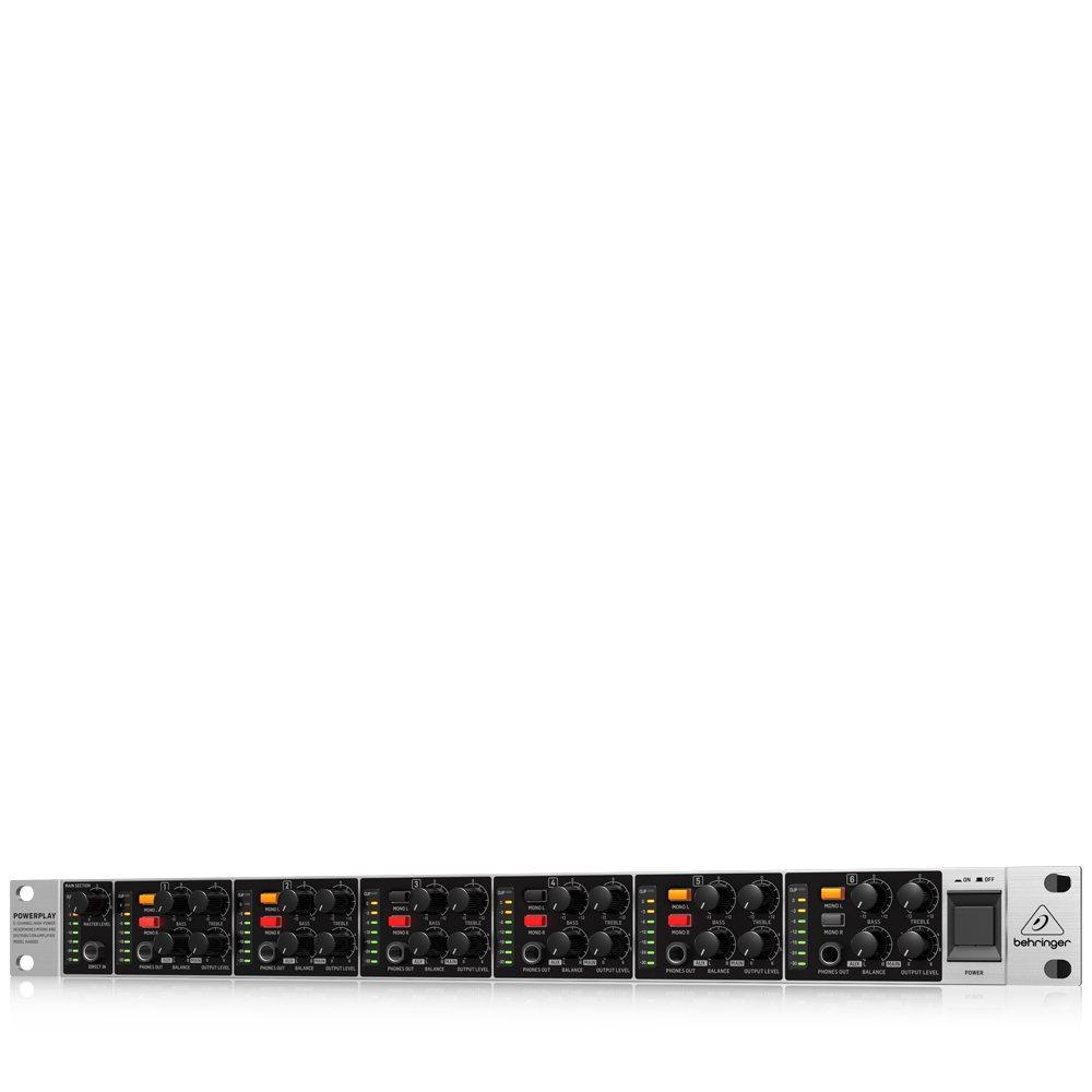 べリンガー ヘッドホンアンプ ステレオ 6ch POWERPLAY HA6000   B072WSP4PC