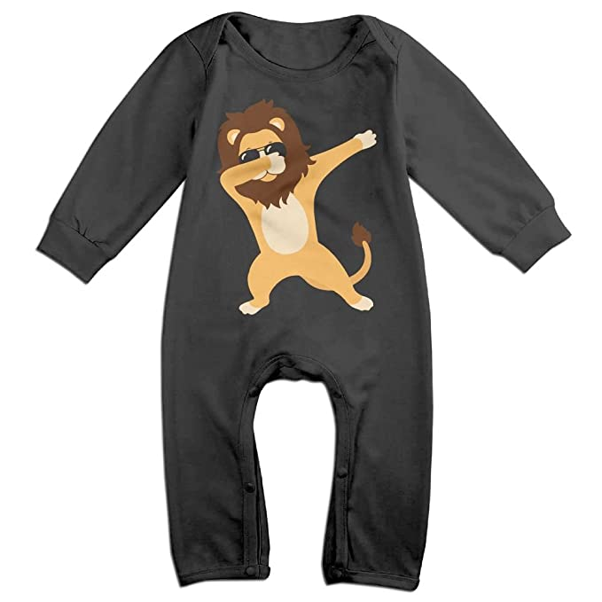 ca640a2d5 Amazon.com  Mrei-leo Newborn Kids Jumpsuit Dabbing Lion Baby Clothes ...