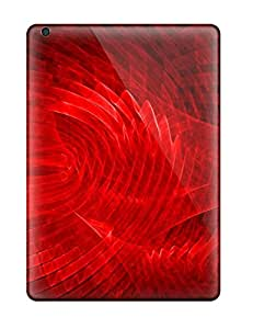 Top Quality Protection Bright Red Texture Case Cover For Ipad Air