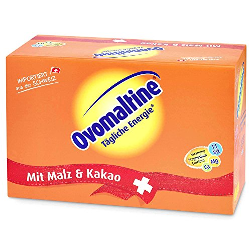 Ovomaltine Portion Bag 100x18g (1800g) - soluble drink powder made from barley malt and cocoa by OVOMALTINE