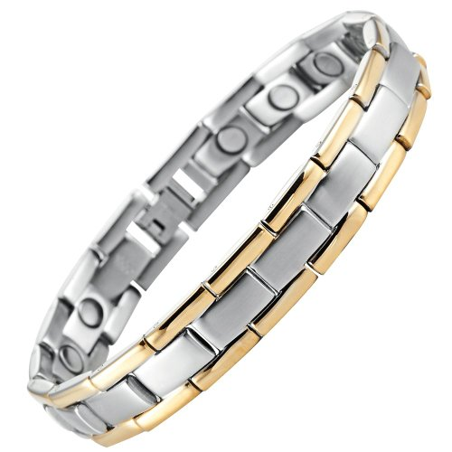Bracelet Stainless Magnetic Therapy Silver product image
