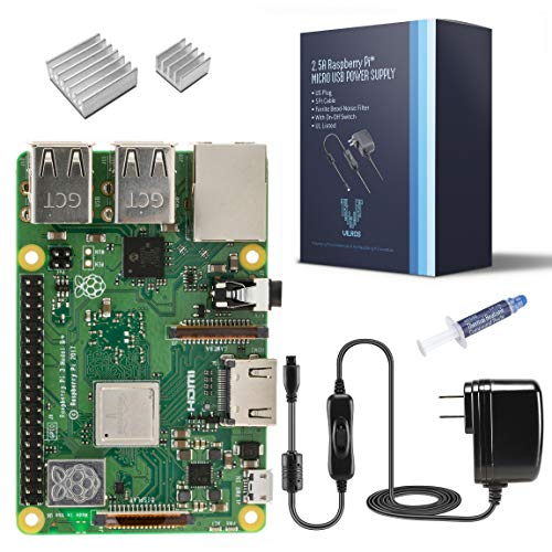 Vilros Raspberry Pi 3 Model B+ (B Plus)-with 2.5A Power Supply