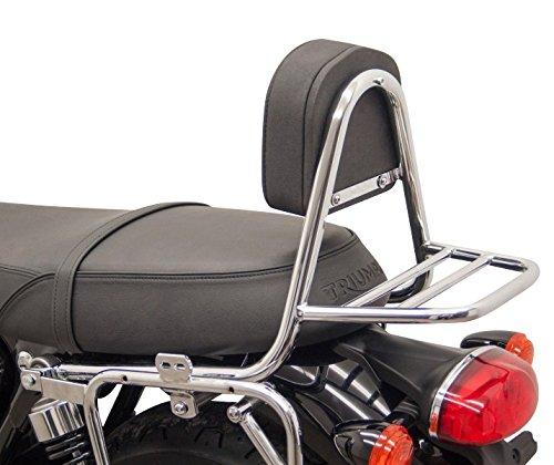 portapacchi Fehling Triumph Bonneville T100 17-18 argento Sissy Bar