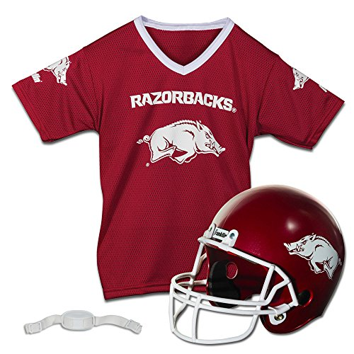 Franklin Sports NCAA Arkansas Razorbacks Helmet and Jersey Set