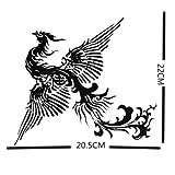 Fashion Black Phoenix Totem Body Tattoo Stickers Waterproof Cover up Tattoo