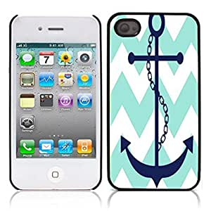 Best-Diy chevron anchor boat Hard Plastic and Aluminum Back o5WzeMTwVFm case cover for Apple iphone 4 4S
