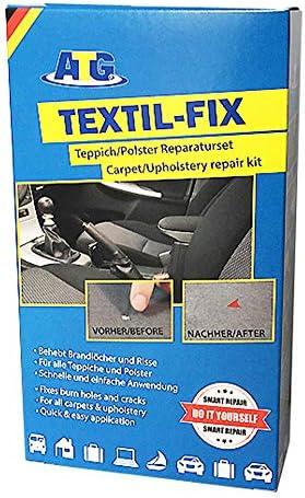 Atg Textil Fix Autositz Brandloch Reparaturset Für Alle Polster Teppich Flicken Couch Pflege Reparaturset Für Den Innenraum Flick Brandloch 13 Teilig Auto