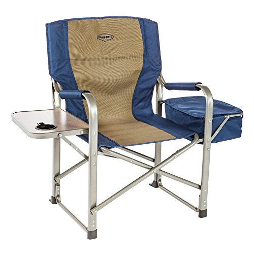 Kamp-Rite Director's Chair with Side Table & Cooler, Blue by Kamp-Rite