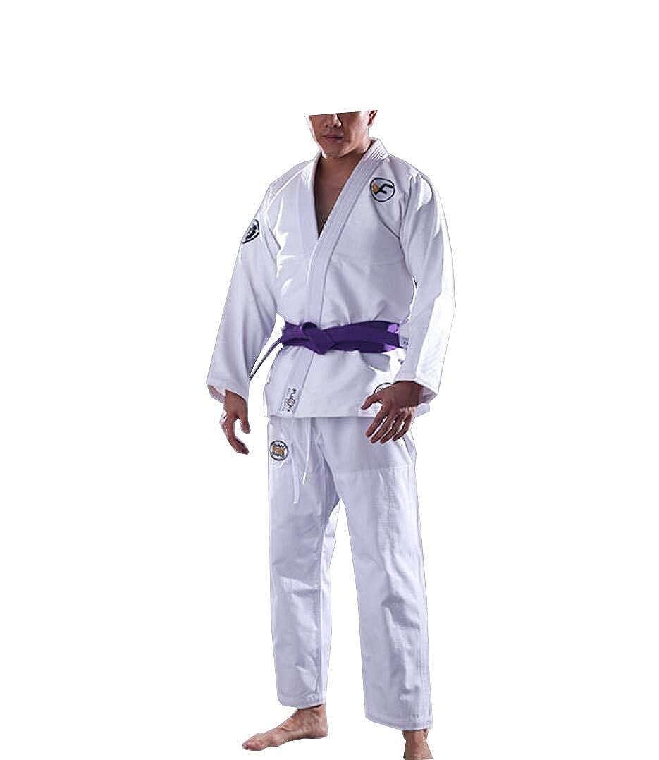 Jiu-Jitsu, der Erwachsener Mann- und Frauenberufsschwarzes und -weiß Sporttendenzeignungskörper-Kampfkunstnotwehr Kleidet