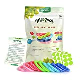 Green-Nature Mosquito Repellent Bracelet for Kids,Adults & Pets,100% Natural Deet-Free Waterproof Travel Insect